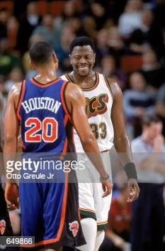 timeless design b7a17 ea074 Patrick Ewing of the Seattle SuperSonics reacts to Allan ...