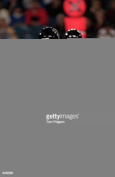 Quarterback Danny Kanell of the Atlanta Falcons moves with the ball during the game against the Detroit Lions at the Silverdome in Pontiac Michigan...