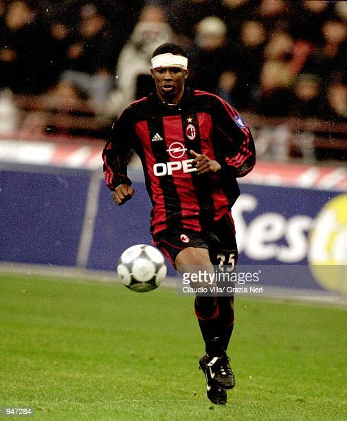 Roque Junior of AC Milan in action during the Italian Serie A match against Napoli played at the San Siro in Milan Italy AC Milan won the match 10...