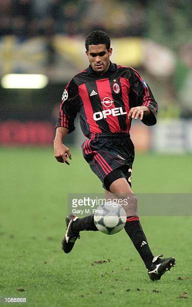 Serginho of AC Milan in action during the UEFA Champions League match against Leeds United played at the San Siro in Milan Italy The match ended in a...