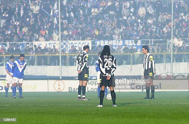 The minutes silence in memory of Edoardo Agnelli befor e the start of the Serie A 7th round league match between Brescia and Juventus played at the...