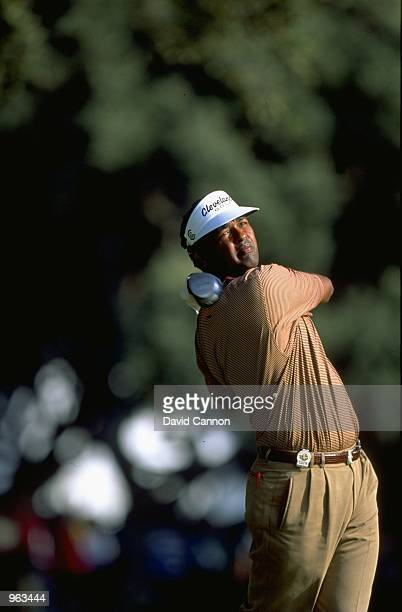 Vijay Singh of Fiji in action during the WGC American Express Championship held at the Valderrama Golf Club in Valderrama in Spain Mandatory Credit...