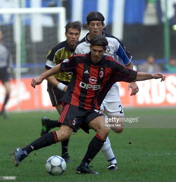 Zvonimir Boban of AC Milan in action during the Serie A League Round 5 match between AC Milan and Atalanta played at the San Siro Stadium in Milan...