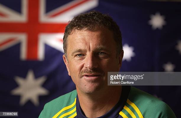 A portrait of Australian soccer assistant coach Graham Arnold during a photo call held today at the Crown Towers Melbourne Australia DIGITAL IMAGE...