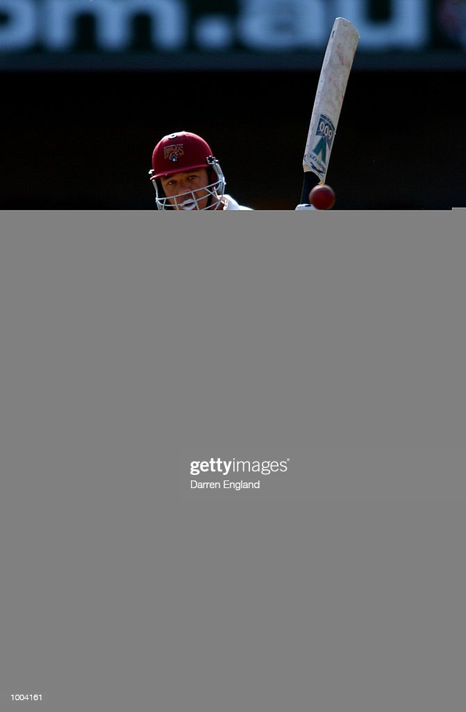 Andrew Symonds of Queensland in action against New Zealand during the New Zealand versus Queensland cricket match played at the Gabba in Brisbane, Australia. The match is part of the New Zealand team's tour of Australia. DIGITAL IMAGE. Mandatory Credit: Darren England/ALLSPORT