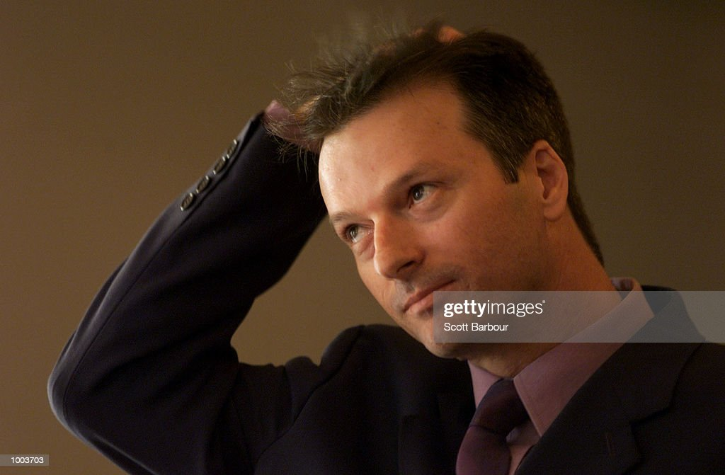 Australian cricket captain Steve Waugh during the launch of his new book ''Ashes Diary 2001''. The book launch was held at the Park Hyatt in Sydney, Australia. DIGITAL IMAGE. Mandatory Credit: Scott Barbour/ALLSPORT