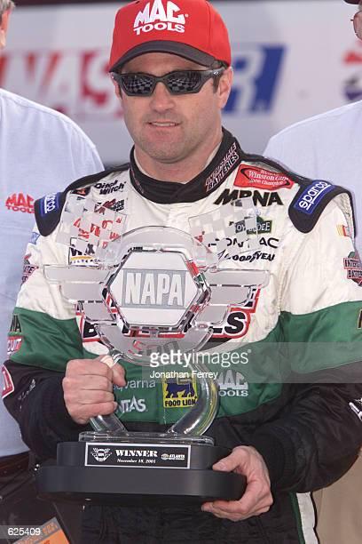 Bobby Labonte wins the NASCAR Winston Cup NAPA 500 at the Atlanta Motor Speedway in Hampton, Georgia. Digital Image. Mandatory Credit: Jonathan...