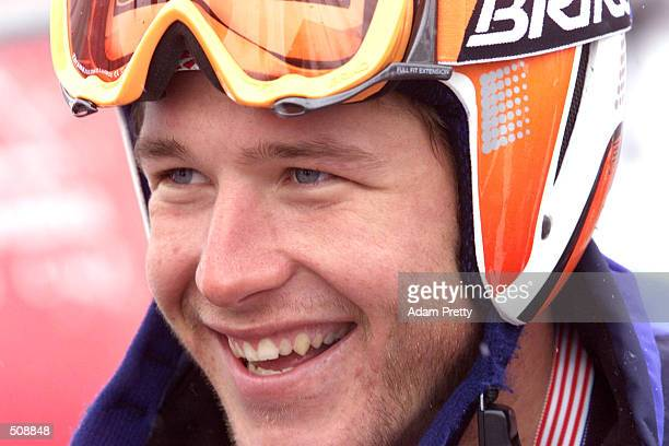 Bode Miller of the USA during the 2nd Mens Slalom at the 2001 Ski World Cup in Aspen Colorado Bode placed second DIGITAL IMAGE Mandatory Credit Adam...