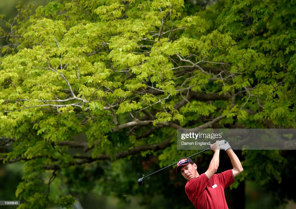 Brett Ogle of Australia plays his second shot on the 3rd fairway during the first round of the Australian PGA Championship being played at Royal Queensland Golf Club in Brisbane, Australia. He finished his round at 1 over par. DIGITAL IMAGE. Mandatory Credit: Darren England/ALLSPORT