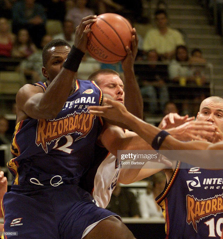 Bruce Bolden #32 of the Razorbacks in action during the NBL match between the West Sydney Razorbacks and the Cairns Taipans held at the State Sports Centre in Sydney, Australia. DIGITAL IMAGE. Mandatory Credit: Scott Barbour/ALLSPORT