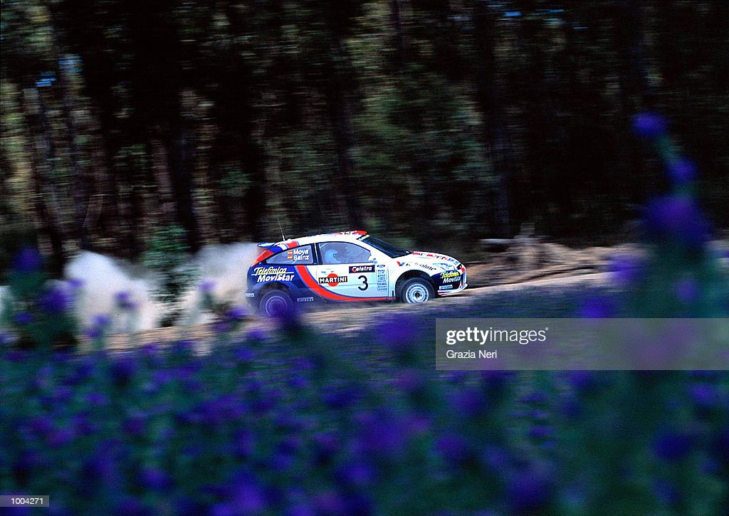 Carlos Sainz puts his Ford Focus to the test during the Telstra Rally Australia at Perth, Australia. The race was the penumltimate of the seasons World Rally Championship. DIGITAL IMAGE Mandatory Credit: GRAZIA
