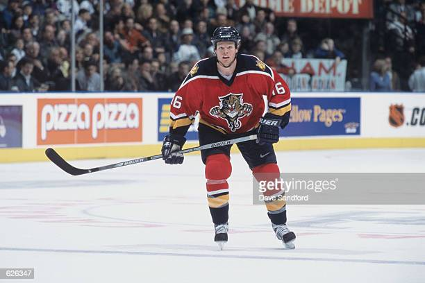 Center Kevyn Adams of the Florida Panthers skates into position during the game against the Toronto Maple Leafs at the Air Canada Centre in Toronto...