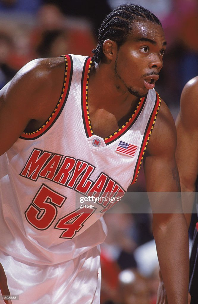 Chris Wilcox #54 of the Maryland Terrapins looks to move after the free throw during the IKON Classic against the Temple Owls at Madison Square Garden in New York, New York. The Terrapins defeated the Owls 82-74.Mandatory Credit: Al Bello /Allsport