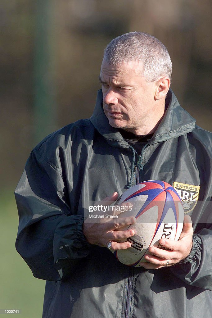 Coach Chris Anderson of Australia during practice at Kirklees, Leeds, as they prepare for the Second Ashes Test against Great Britain. DIGITAL IMAGE.. Mandatory Credit: Michael Steele/ALLSPORT