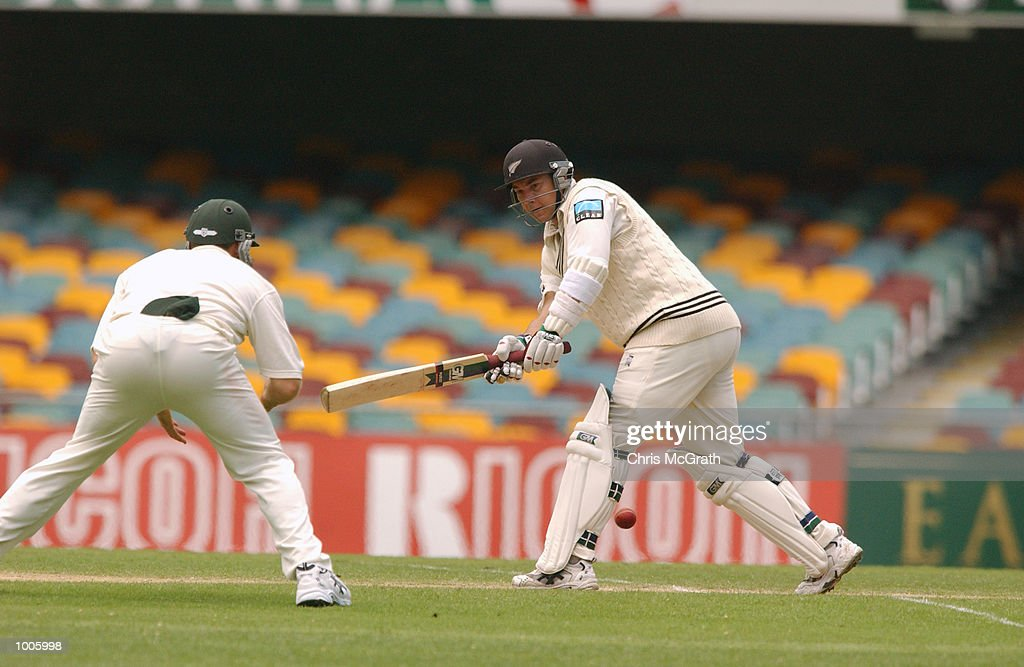 Craig McMillan of New Zealand during day four of the first cricket test between Australia and New Zealand held at the Gabba, Brisbane, Australia. DIGITAL IMAGE Mandatory Credit: Chris McGrath/ALLSPORT