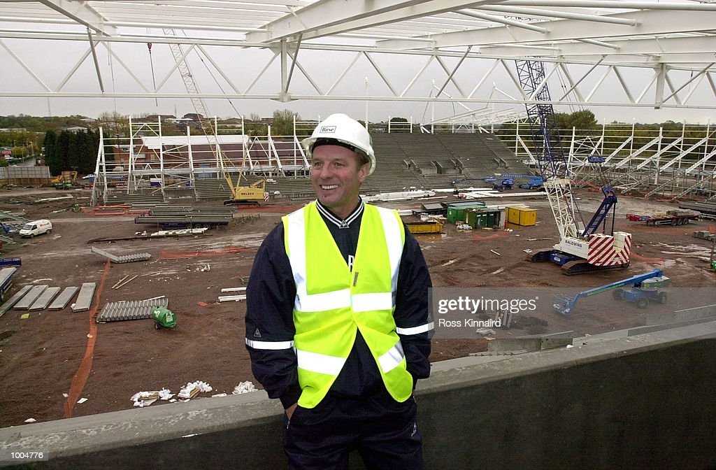 Dave Bassett, the manager of Leicester City, during a visit to the site of the new stadium which will be ready for the start of the 2002 season. DIGITAL IMAGE. Mandatory Credit: Ross Kinnaird/ALLSPORT