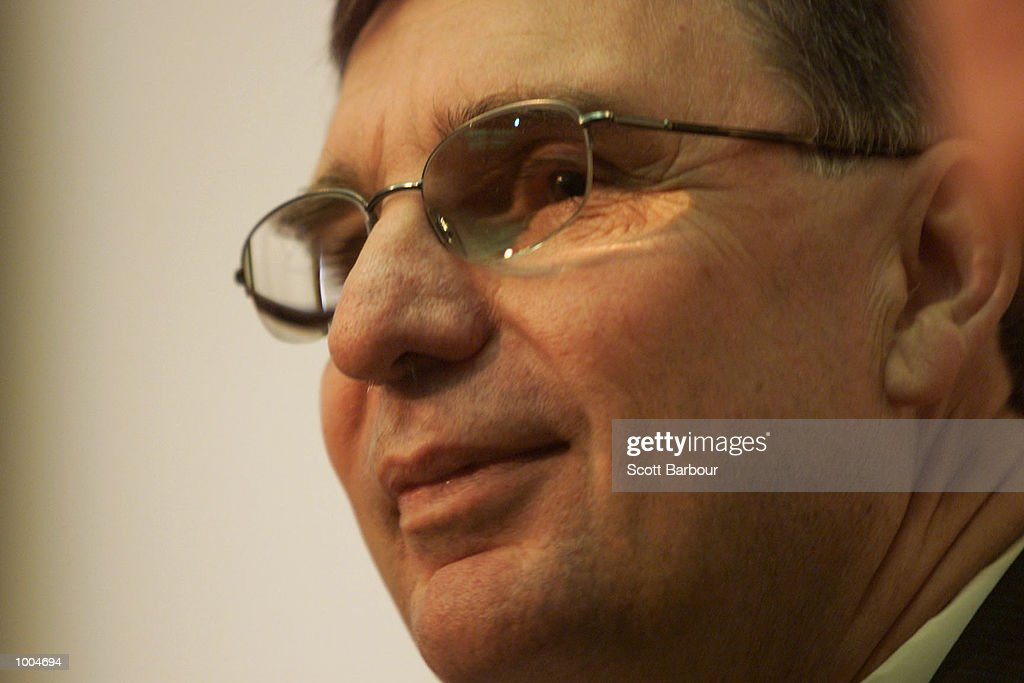 David Moffett during a press conference to announce his resignation from the office of Chief Executive of the National Rugby League held at NRL Headquaters at Fox Studios in Sydney, Australia. DIGITAL IMAGE. Mandatory Credit: Scott Barbour/ALLSPORT