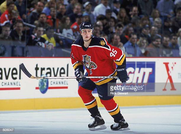 Defenseman Brad Ference of the Florida Panthers skates for position against the Buffalo Sabres during the NHL game at HSBC Arena in Buffalo New York...