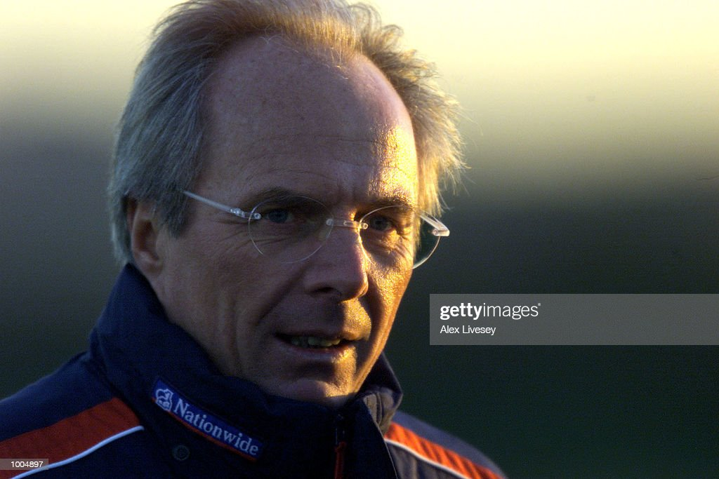 England manager Sven Goran Eriksson during today's England training session at the Carrington Training ground in Carrrington, Manchester. DIGITAL IMAGE. Mandatory Credit: Alex Livesey/ALLSPORT
