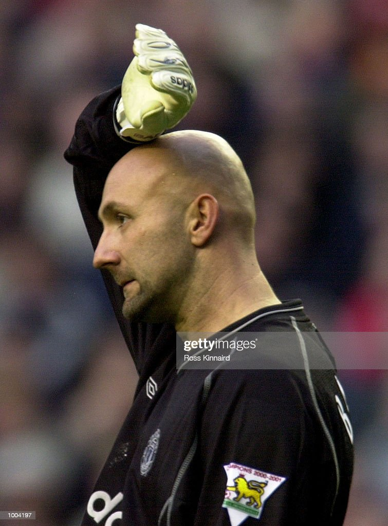 Fabien Barthez of Manchester during the FA Barclaycard Premiership game between Liverpool and Manchester United at Anfield, Liverpool. Mandatory Credit: Ross Kinnaird/ALLSPORT