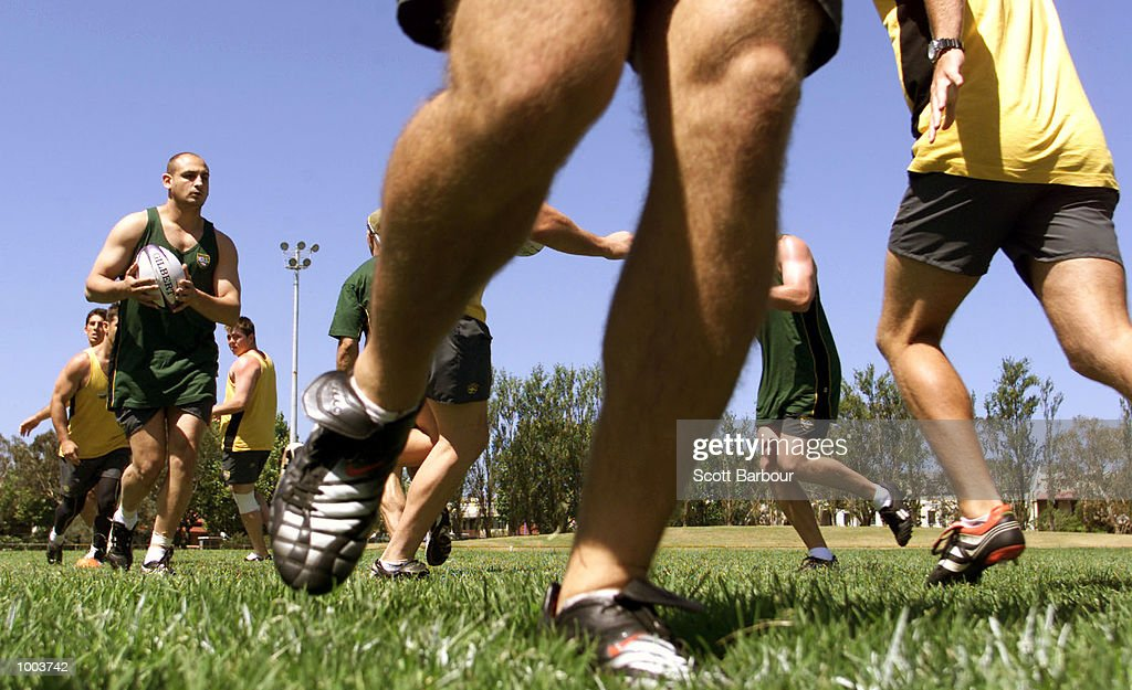 General view during training after the team to play Great Britain in the first test on the Kangaroo tour of England was announced. Training was held at Erskineville Oval in Sydney, Australia. DIGITAL IMAGE. Mandatory Credit: Scott Barbour/ALLSPORT