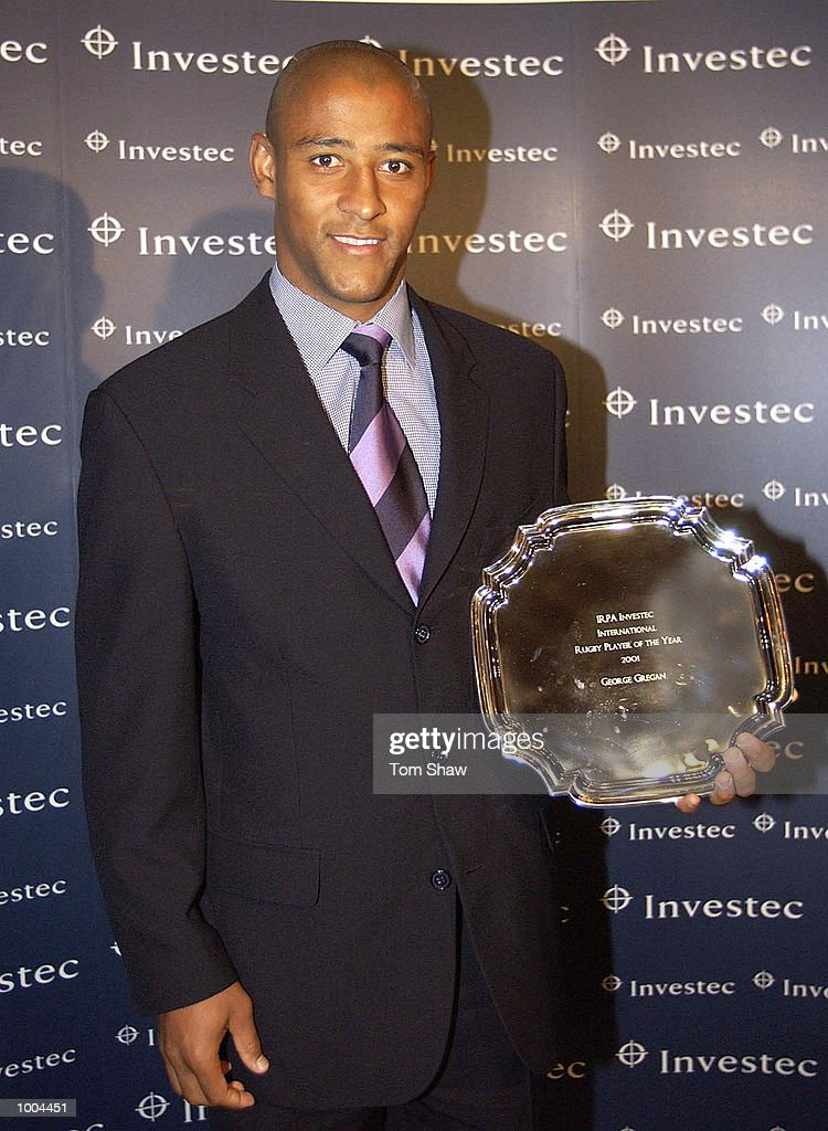 George Gregan of Australia poses with the International Rughby Player of the Year Award at the IRPA Investec Awards Dinner at the Royal Lancaster Hotel, London. DIGITAL IMAGE. Mandatory Credit: Tom Shaw/ALLSPORT