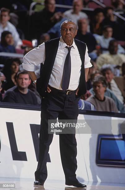 Head Coach John Chaney of the Temple Owls looks on during the IKON Classic against the Maryland Terrapins at Madison Square Garden in New York New...