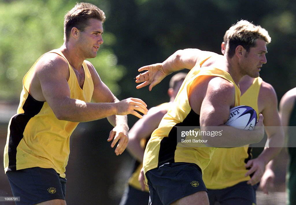 Jason Stevens in action during training after the team to play Great Britain in the first test on the Kangaroo tour of England was announced. Training was held at Erskineville Oval in Sydney, Australia. DIGITAL IMAGE. Mandatory Credit: Scott Barbour/ALLSPORT