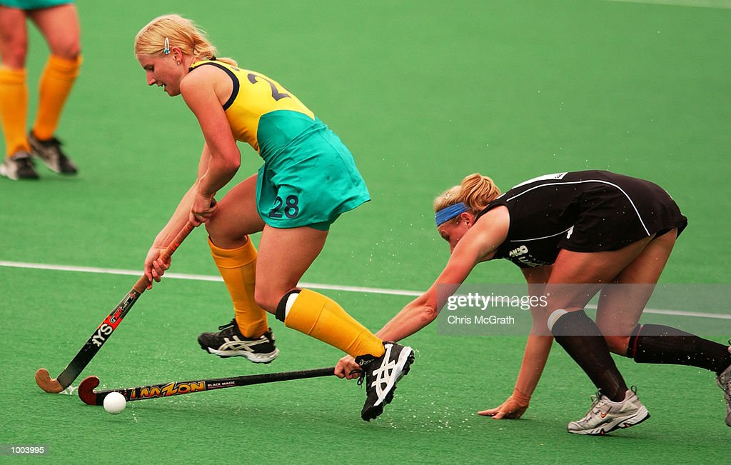 Julie Towers #28 of Australia in action during the third hockey test match between the Australian Hockeyroos and the New Zealand Black Sticks held at the Sydney Hockey Centre, Homebush Bay, Sydney, Australia. DIGITAL IMAGE Mandatory Credit: Chris McGrath/ALLSPORT