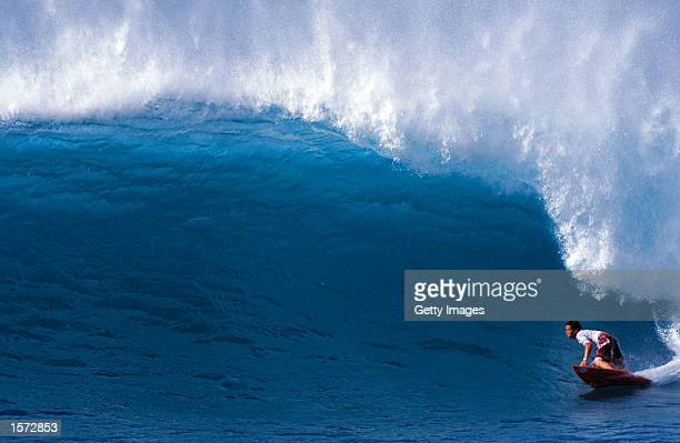 Kekoa Bacalso from Hawaii finished runner up in the Rip Curl Cup Trials at Sunset Beach on the North Shore of Oahu Hawaii today Bacalso defeated six...