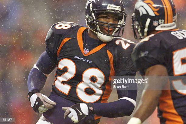Kenoy Kennedy of the Denver Broncos during the game against the Washington Redskins at Mile High Stadium in Denver Colorado The Redskins won 1710...