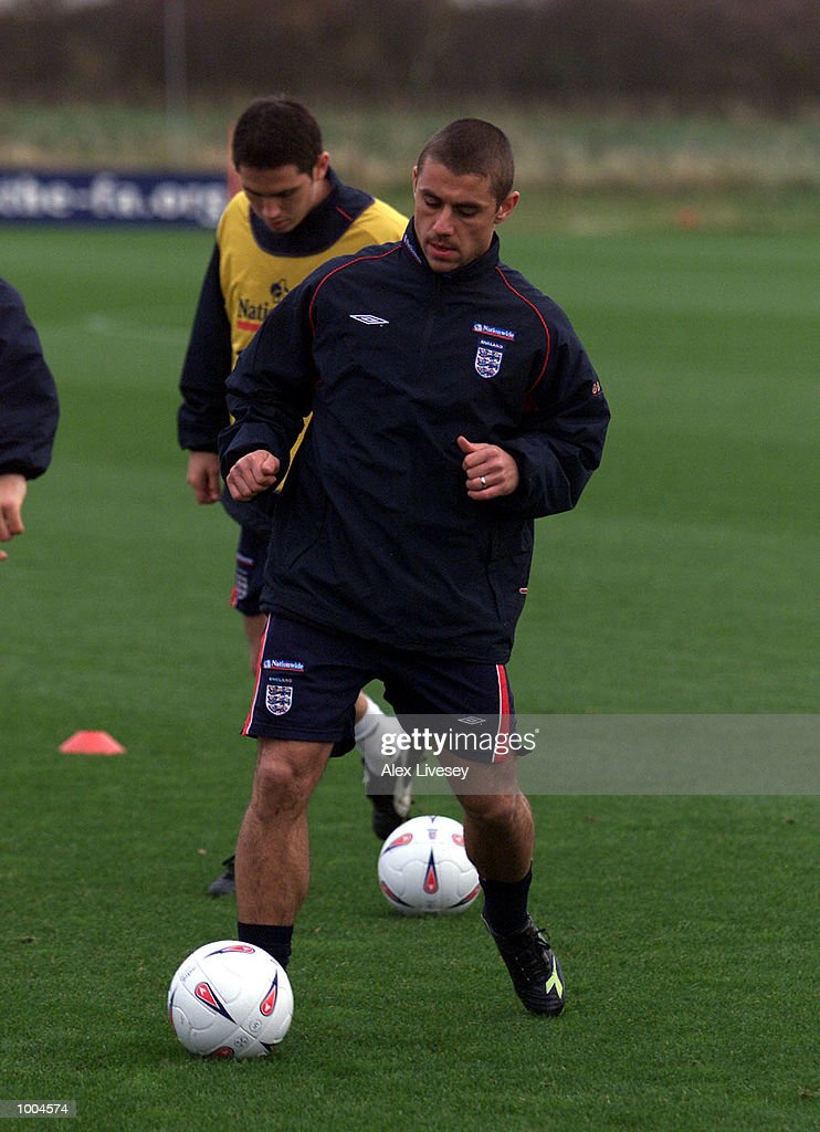Kevin Phillips in action during today's England training session at the Carrington training ground in Carrington, Manchester. DIGITAL IMAGE. Mandatory Credit: Alex Livesey/ALLSPORT