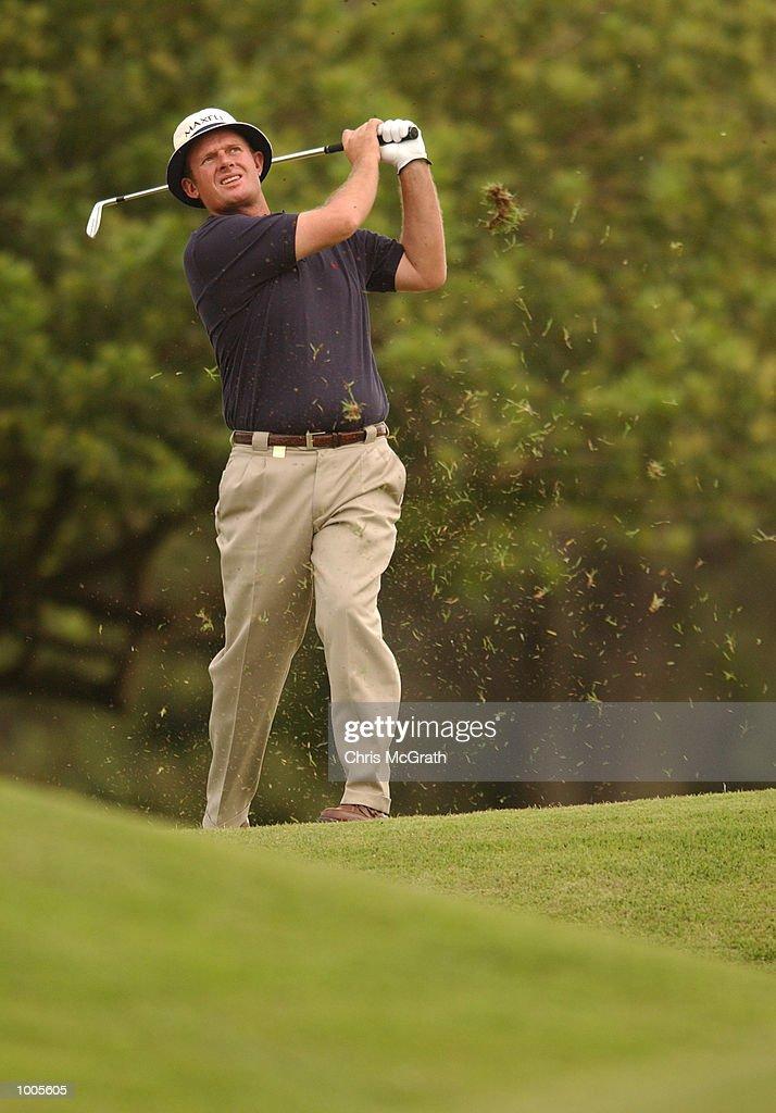 Lucas Parsons of Australia in action on the 9th fairway during the Australian PGA Championship Pro AM held at Royal Queensland Golf Club, Brisbane, Australia. DIGITAL IMAGE Mandatory Credit: Chris McGrath/ALLSPORT