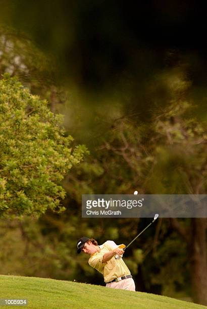 Mathew Goggin of Australia in action during the second round of the Australian PGA Championships being played at Royal Queensland Golf Club,...