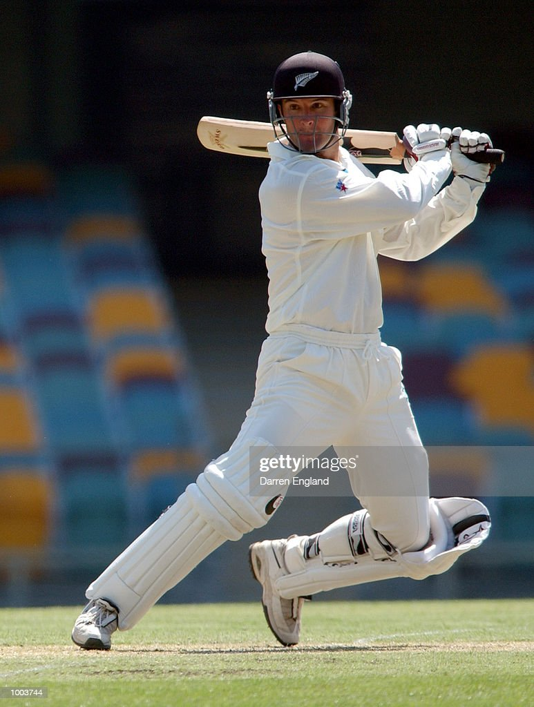 Nathan Astle of New Zealand in action against Queensland during the New Zealand cricket teams tour match against Queensland played at the Gabba in Brisbane, Australia. DIGITAL IMAGE. Mandatory Credit: Darren England/ALLSPORT