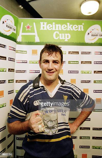 Nathan Spooner of Leinster is named ''Heineken'' man of the match after the Heineken Cup Pool 6 match against Newport played at Rodney Parade in...