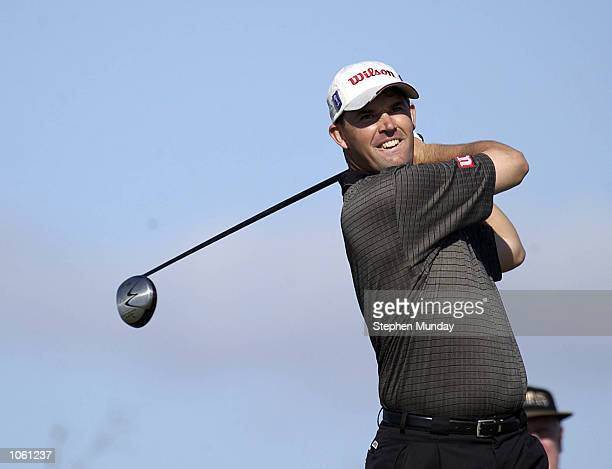 Padraig Harrington drives on the 3rd hole during the second round of the Volvo Masters Andalucia at the Montecastillo Golf Resort Jerez Spain DIGITAL...