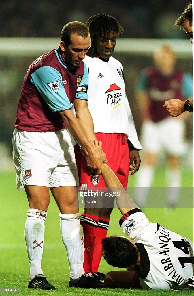Paolo Di Canio of West Ham United during the FA Barclaycard Premiership match between West Ham United and Fulham at Upton Park, London. Mandatory Credit: Phil Cole/ALLSPORT