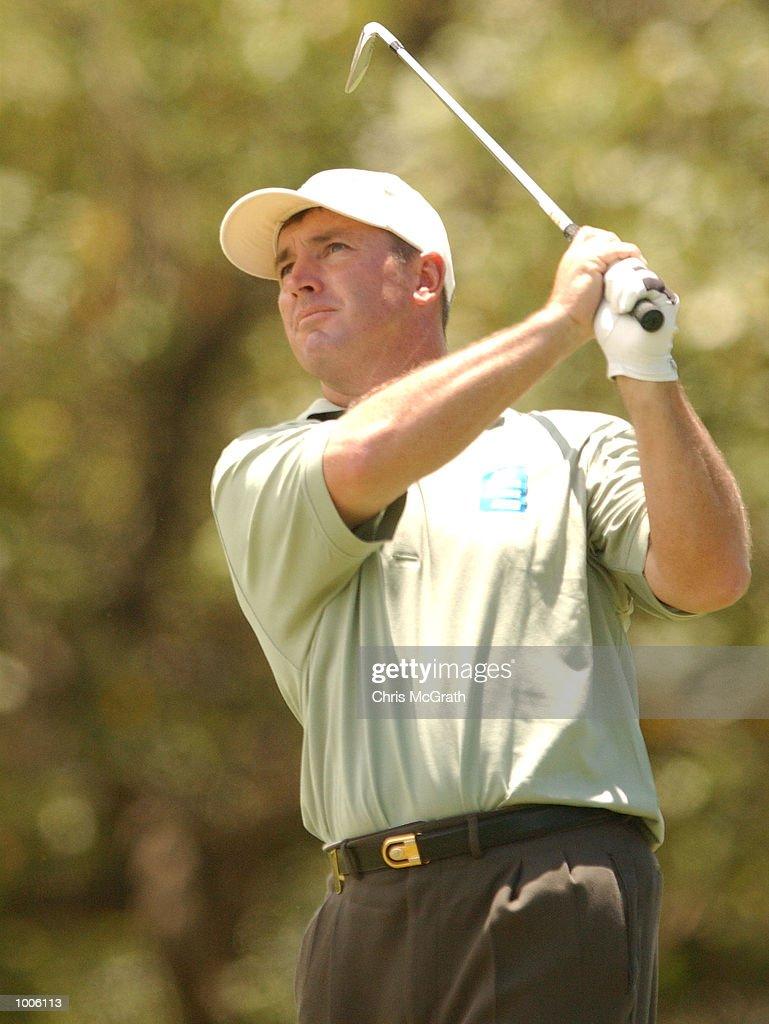 Peter Lonard of Australia in action during the third round of the Australian PGA Championships being played at Royal Queensland Golf Club, Brisbane, Australia. DIGITAL IMAGE Mandatory Credit: Chris McGrath/ALLSPORT