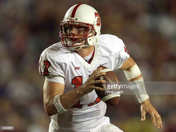 Philip Rivers of NCSt runs with the ball during as Florida State defeated North Carolina State at Doak Campell Stadium in Tallahassee Fl NC St won...