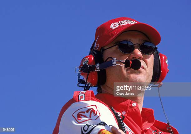 Portrait of Ray Evernham during the Pop Secret Microwave Popcorn 400 part of the NASCAR Winston Cup Championship Series at North Carolina Speedway in...