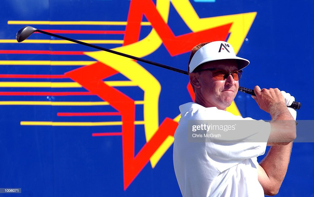 Robert Allenby of Australia in action off the 18th tee during the third round of the Australian PGA Championship being played at Royal Queensland Golf Club in Brisbane, Australia. DIGITAL IMAGE. Mandatory Credit: Chris McGrath/ALLSPORT
