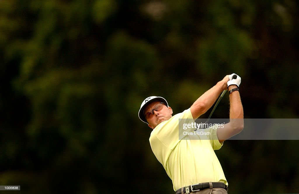 Robert Allenby of Australia tees of on the 7th tee during the first round of the Australian PGA Championships being played at Royal Queensland Golf Club, Brisbane, Australia. DIGITAL IMAGE Mandatory Credit: Chris McGrath/ALLSPORT