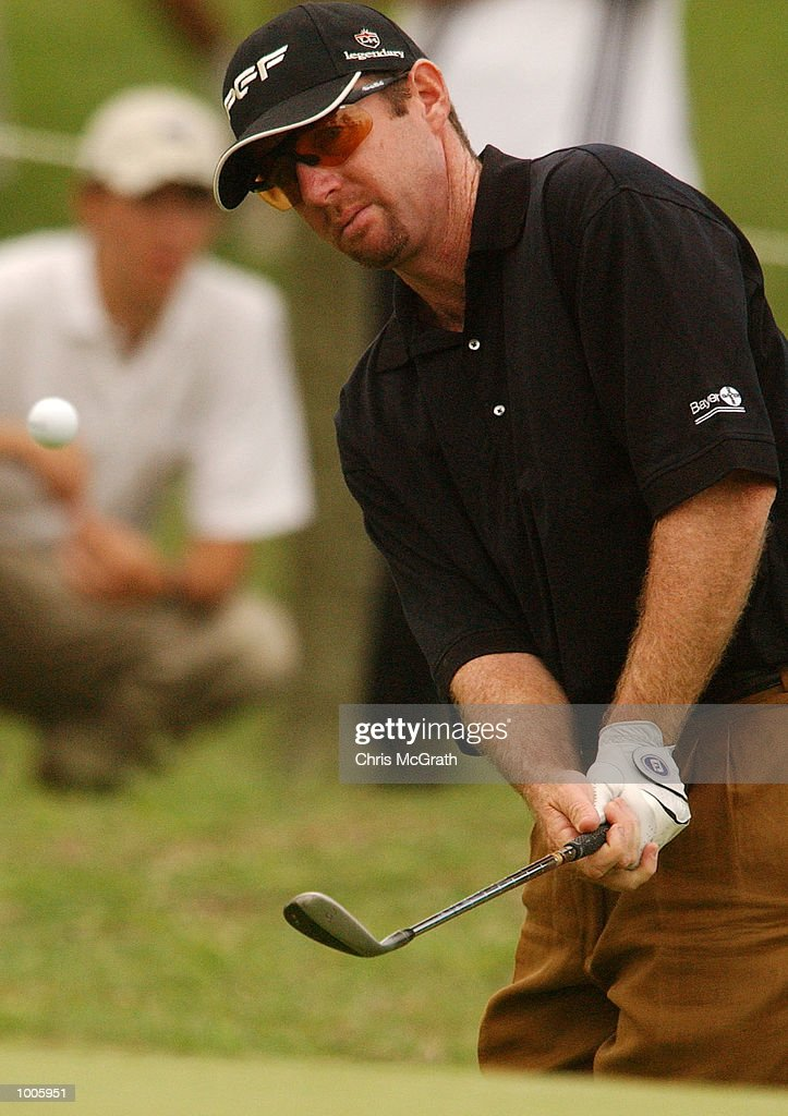 Rodney Pampling of Australia in action during the second round of the Australian PGA Championships being played at Royal Queensland Golf Club, Brisbane, Australia. DIGITAL IMAGE Mandatory Credit: Chris McGrath/ALLSPORT