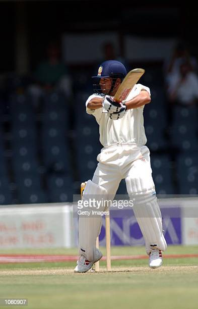 Sachin Tendulkar of India in action during the first test match between South Africa and India in Bloemfontein South Africa DIGITAL IMAGE Touchline...