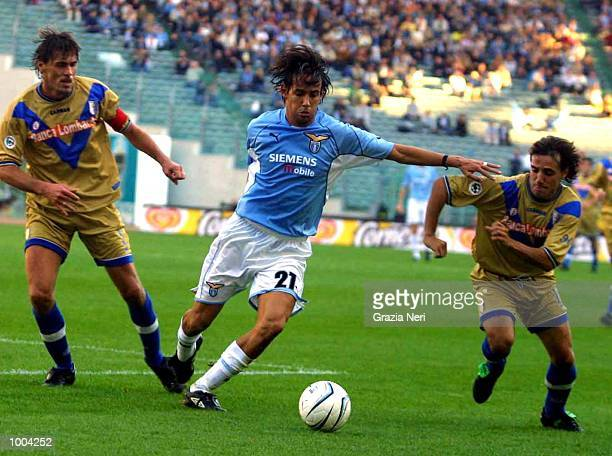 Simone Inzaghi of Lazio in action during the Serie A match between Lazio and Brescia played at the Olympic Stadium Rome DIGITAL IMAGE Mandatory...