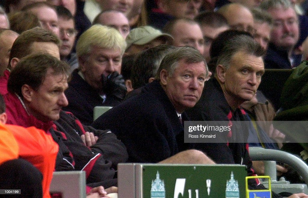 Sir Alex Ferguson the manager of Manchester United during the FA Barclaycard Premiership game between Liverpool and Manchester United at Anfield, Liverpool. Mandatory Credit: Ross Kinnaird/ALLSPORT