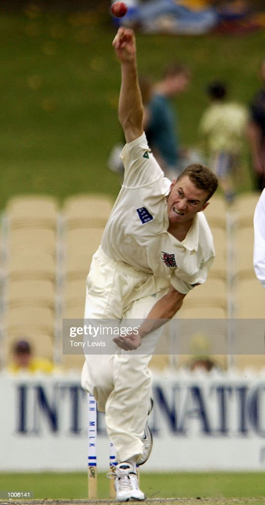 South Australian bowler Paul Rofe in action in the match between South Australia and New Zealand played at Adelaide Oval in Adelaide, Australia. Digital Image. Mandatory Credit: Tony Lewis/ALLSPORT