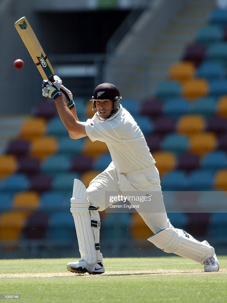 Stephen Fleming of New Zealand in action against Queensland during the New Zealand cricket teams tour match against Queensland played at the Gabba in Brisbane, Australia. DIGITAL IMAGE. Mandatory Credit: Darren England/ALLSPORT
