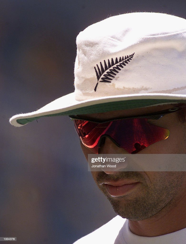 Stephen Fleming of New Zealand in action during a team training session held at the Gabba, Brisbane, Australia. DIGITAL IMAGE. Mandatory Credit: Jonathan Wood/ALLSPORT